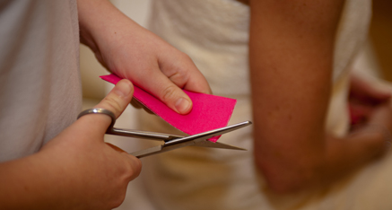 Kinesio taping a shoulder