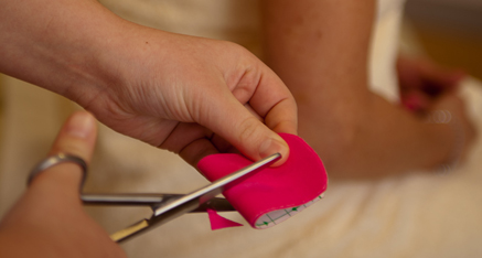Kinesio tape cutting