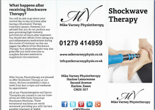 Shockwave Therapy for injuries and rehabilitation