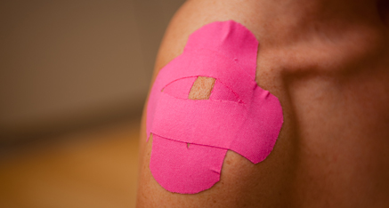 Kinesio tape for the shoulder