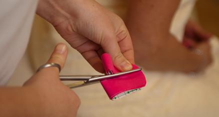 Cutting Kinesio tape
